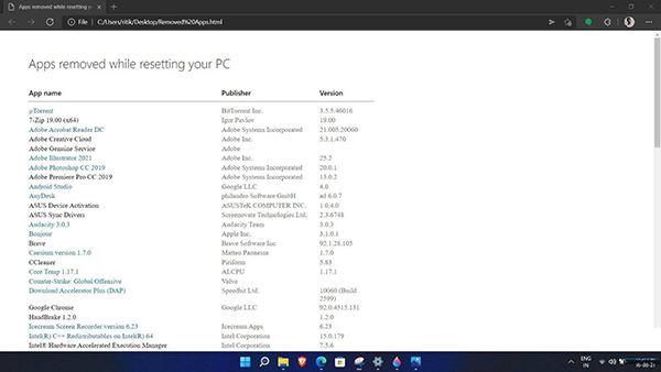 Windows11重置保留我的文件作用介绍